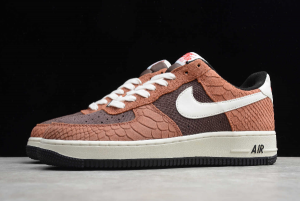 Nike Air Force 1 Low PRM Red Bark With Snakeskin CV5567-200-4