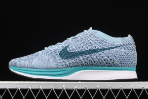 Latest Nike Flyknit Racer Blueberry Running Shoes 526628-102