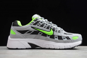 Nike P-6000 Wolf Grey Electric Green In Men's Sizing CD6404-005-4