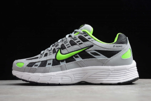 Nike P-6000 Wolf Grey Electric Green In Men's Sizing CD6404-005