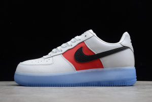 New Nike Air Force 1 Low EMB White Red Black On Sale CT2295-110