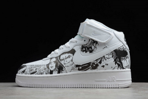 Nike Air Force 1 Mid White/Black For Sale AQ8020-100