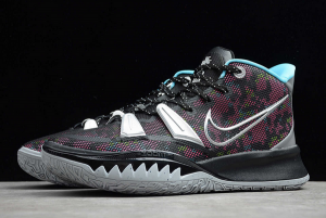 2020 Mens Nike Kyrie 7 EP Black Silver Pink Blue Basketball Shoes CT4080-008-4