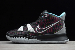 2020 Mens Nike Kyrie 7 EP Black Silver Pink Blue Basketball Shoes CT4080-008