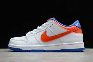 2020 New Nike SB Dunk Low Pro White/Royal Blue-Red 304292-103 In Stock