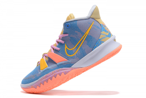 2021 Latest Nike Kyrie 7 Blue Pink Purple Yellow Brown Sneakers