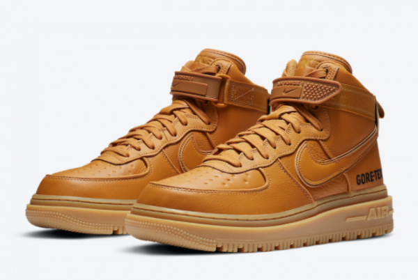 Buy Mens Nike Air Force 1 Gore-Tex Boot Wheat Flax Shoes CT2815-200-1