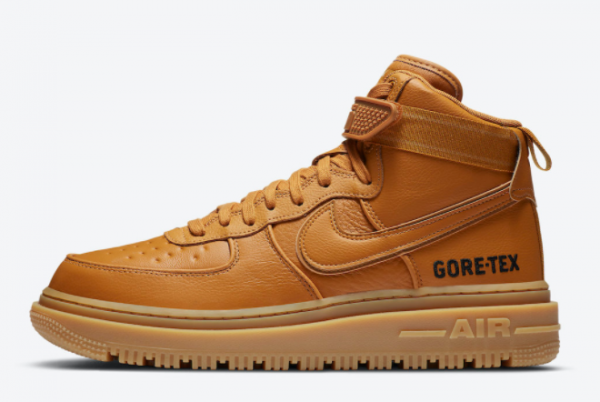 Buy Mens Nike Air Force 1 Gore-Tex Boot Wheat Flax Shoes CT2815-200