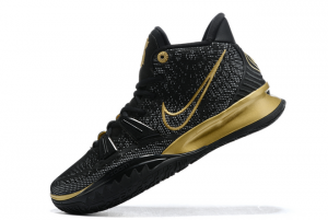Brand New Nike Kyrie 7 Black Gold Basketball Sneakers