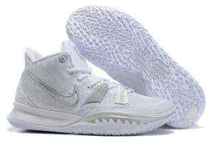 Buy Mens Nike Kyrie 7 Pure Platinum White Silver Sneakers-1