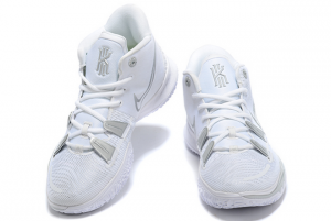 Buy Mens Nike Kyrie 7 Pure Platinum White Silver Sneakers-4