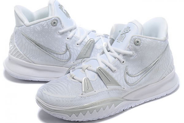 Buy Mens Nike Kyrie 7 Pure Platinum White Silver Sneakers-3