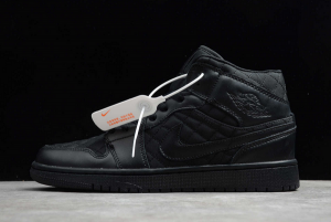 Latest Air Jordan 1 Mid SE Black Quilted For Sale DB6078-001