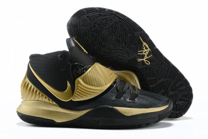 Mens Nike Kyrie 6 Black Gold Running Shoes On Sale-1