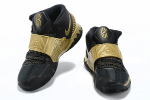 Mens Nike Kyrie 6 Black Gold Running Shoes On Sale-4