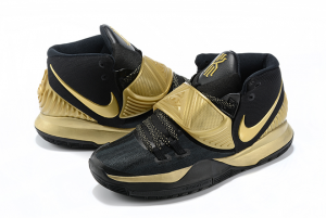 Mens Nike Kyrie 6 Black Gold Running Shoes On Sale-3