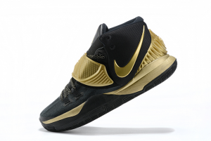 Mens Nike Kyrie 6 Black Gold Running Shoes On Sale