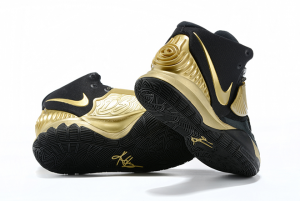 Mens Nike Kyrie 6 Black Gold Running Shoes On Sale-2