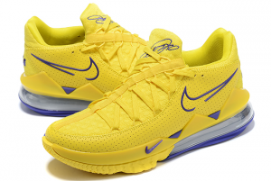 New Mens Nike LeBron 17 Low Yellow/Purple For Sale-3
