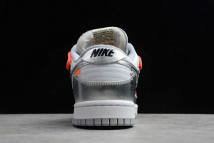 New Off-White x Nike SB Dunk Low Silver/White-Black For Sale CT0856-800-2