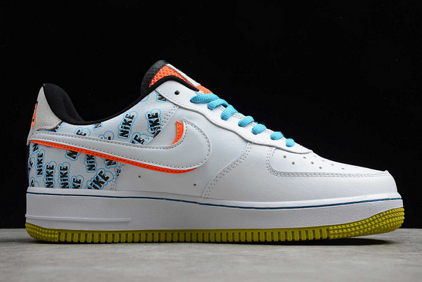 Nike Air Force 1 Low Back To School White/Hyper Crimson-Bright Cactus CZ8139-100-1