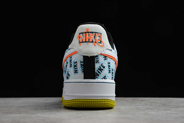 Nike Air Force 1 Low Back To School White/Hyper Crimson-Bright Cactus CZ8139-100-2