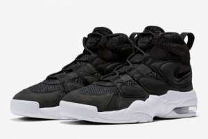 2016 Nike Air Max Uptempo 2 Black White Shoes On Sale 919831-001-3