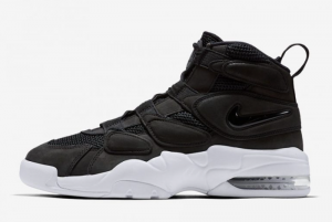 2016 Nike Air Max Uptempo 2 Black White Shoes On Sale 919831-001