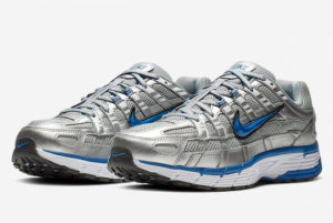 2019 Nike P-6000 Metallic Silver/Laser Blue Running Shoes For Sale BV1021-001-1