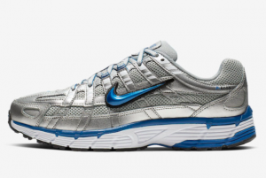 2019 Nike P-6000 Metallic Silver/Laser Blue Running Shoes For Sale BV1021-001