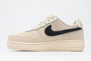 2020 Nike Air Force 1 '07 Low Fossil Color x Stussy Beige Casual Shoes Sale 920788-300-1