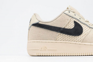 2020 Nike Air Force 1 '07 Low Fossil Color x Stussy Beige Casual Shoes Sale 920788-300-2