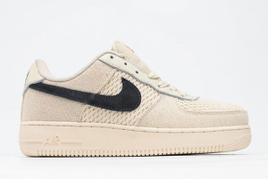 2020 Nike Air Force 1 '07 Low Fossil Color x Stussy Beige Casual Shoes Sale 920788-300