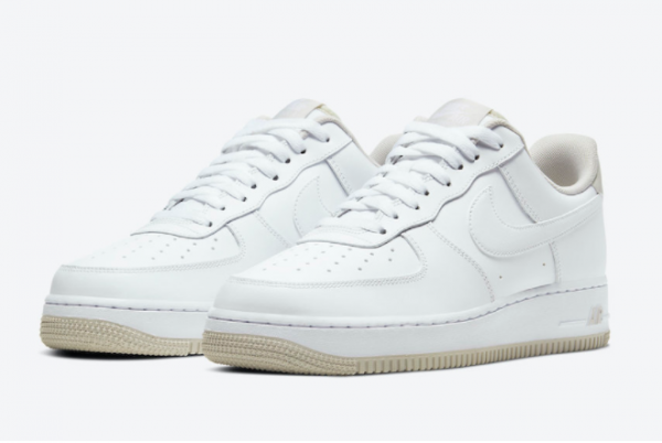 2020 Nike Air Force 1 Low Light Bone Casual Shoes For Sale CJ1380-101-1