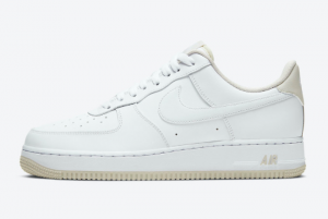 2020 Nike Air Force 1 Low Light Bone Casual Shoes For Sale CJ1380-101