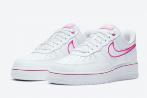 2020 Nike Air Force 1 Low Pink Gradient Swoosh Shoes On Sale DD9683-100-1