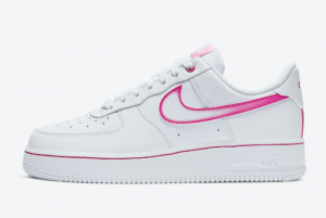 2020 Nike Air Force 1 Low Pink Gradient Swoosh Shoes On Sale DD9683-100