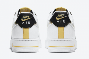 2020 Nike Air Force 1 Low Reflective Zebra Swooshes Gold Links DH5284-100-3