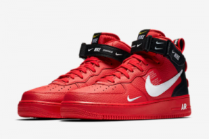 2020 Nike Air Force 1 Mid '07 LV8 Red/Black-White Hot Sale 804609-605-2