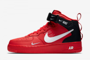2020 Nike Air Force 1 Mid '07 LV8 Red/Black-White Hot Sale 804609-605