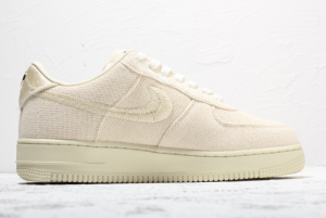 2020 Stussy x Nike Air Force 1 Low Beige For Sale Online CZ9087-200-1