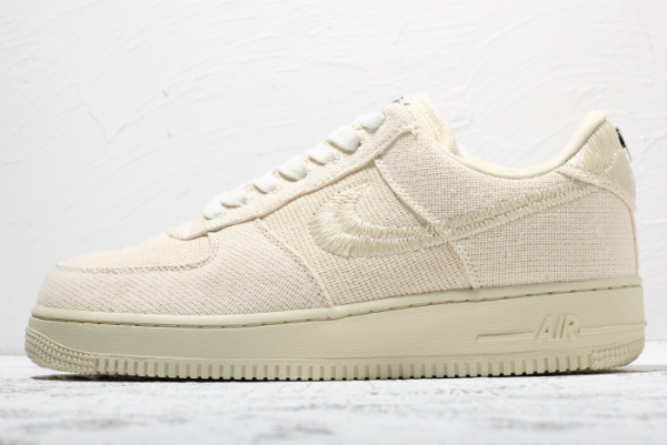 2020 Stussy x Nike Air Force 1 Low Beige For Sale Online CZ9087-200