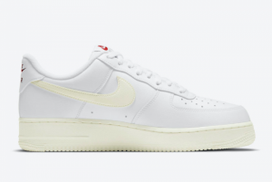 2021 Nike Air Force 1 Valentine's Day White Sail-University Red DD7117-100-1