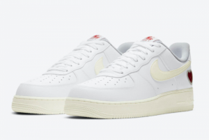 2021 Nike Air Force 1 Valentine's Day White Sail-University Red DD7117-100-3