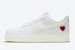 2021 Nike Air Force 1 Valentine's Day White Sail-University Red DD7117-100