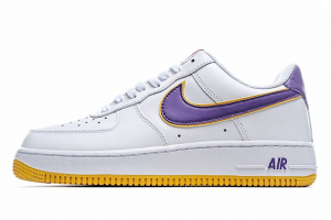 Discount Nike Air Force 1 '07 Low White Purple Gold HK7765-024