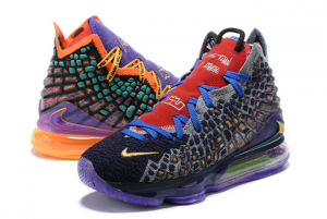 Latest Nike LeBron 17 What The Multi-Color On Sale CV8080-900-4
