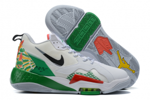 Mens Jordan Zoom 92 Summit White/Black-Lucky Green-Track Red Shoes CK9183-103-1