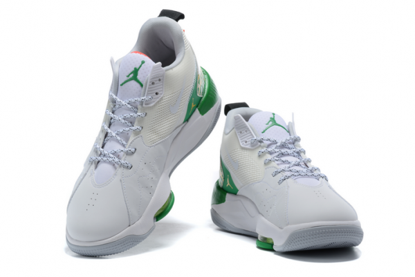 Mens Jordan Zoom 92 Summit White/Black-Lucky Green-Track Red Shoes CK9183-103-2