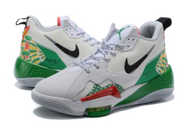 Mens Jordan Zoom 92 Summit White/Black-Lucky Green-Track Red Shoes CK9183-103-3